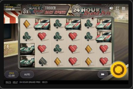 24 Hour Grand Prix Slots -Red Tiger Gaming