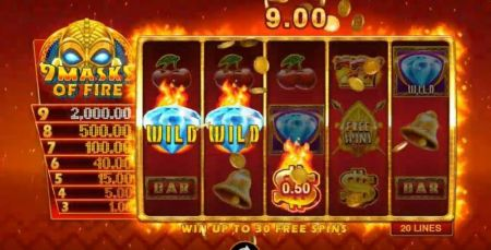 9 Masks of Fire Slots -Microgaming