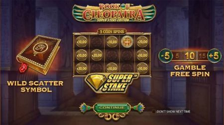 Book of Cleopatra Super Stake Edition Slots -StakeLogic