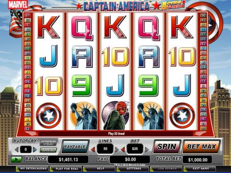 Captain America - Action Stacks! Slots -CryptoLogic