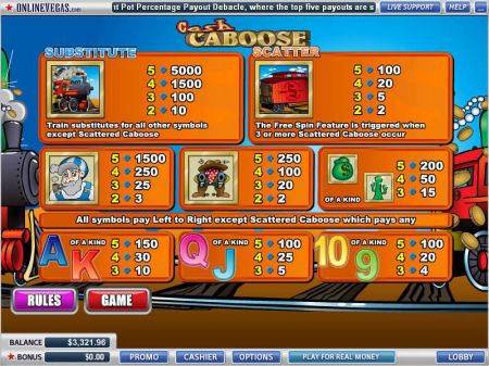 Cash Caboose Slots -WGS Technology