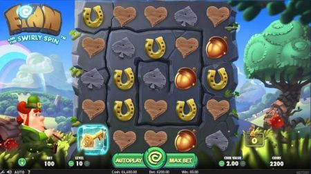 Finn and the Swirly Spin Slots -NetEnt
