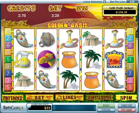 Golden Oasis Slots -bwin.party