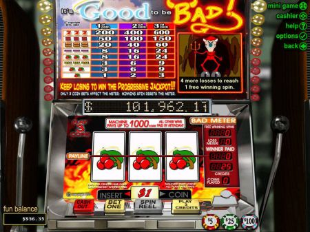 It's Good to be Bad Slots -RTG