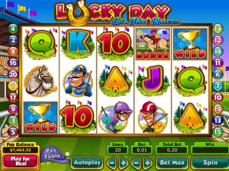 Lucky Day at the Races Slots -Topgame