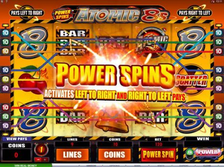Power Spins - Atomic 8's Slots -Microgaming