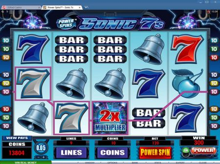 Power Spins - Sonic 7's Slots -Microgaming
