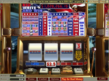 Red White and Win Slots -WGS Technology