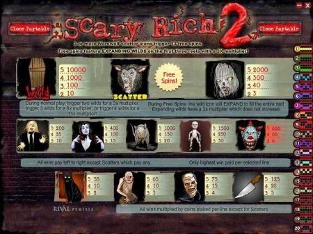 Scary Rich 2 Slots -Rival