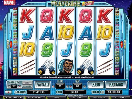 Wolverine - Action Stacks! Slots -CryptoLogic